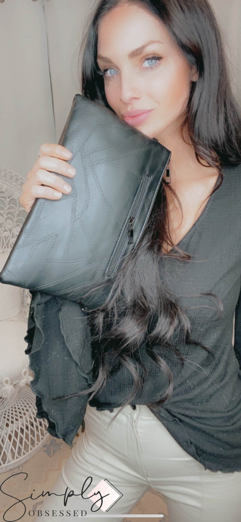 Julia Rose - Studded Envelope Clutch/Handbag