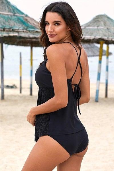 SHEWIN-Black Swimsuit Bottom