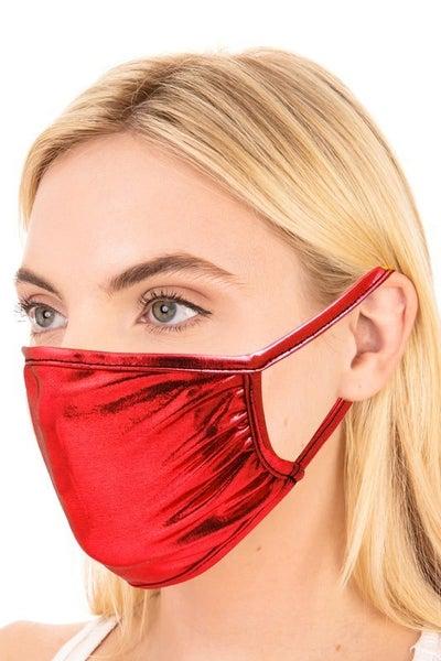 Fame Accessories - Metallic reusable adult face mask