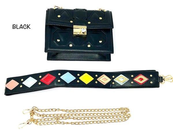 Gemelli- Small faux leather handbag