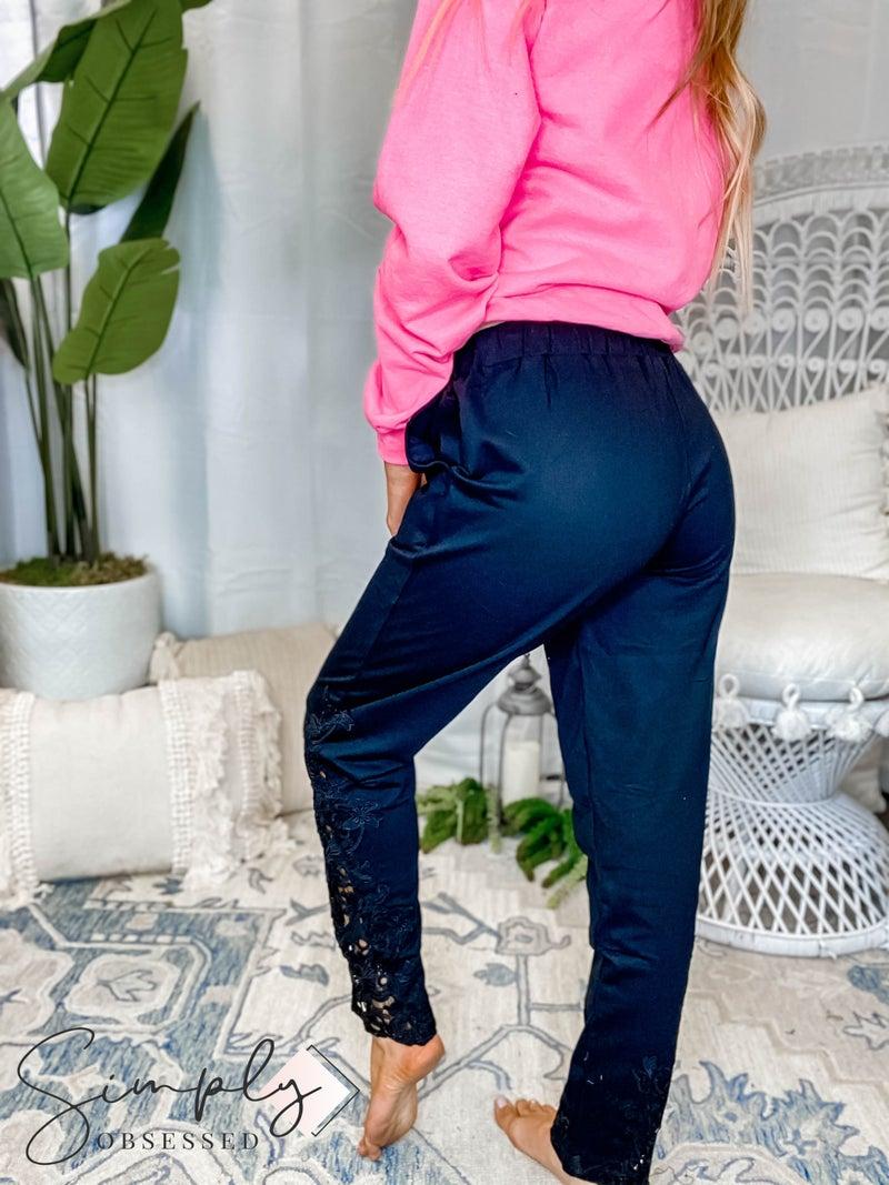 Vocal - Lace detail pants