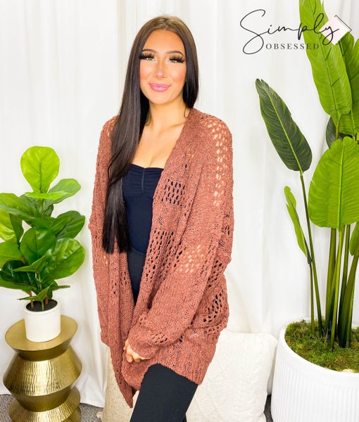 Kyemi - Oversized cardigan with an open front
