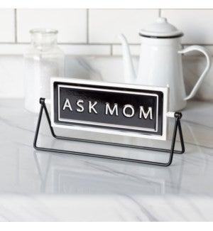 VIP ATL - Gloss Finish Metal Flip Sign Ask Mom/Dad