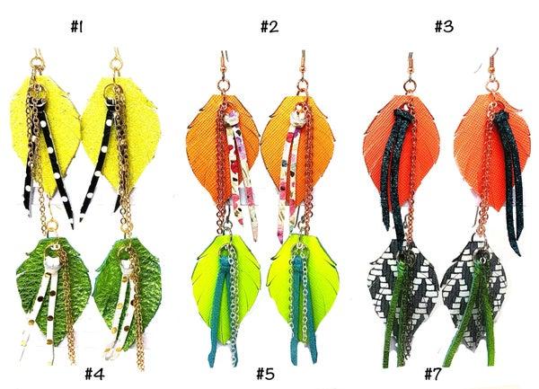 Emerge Heather Fringe Earrings with Chain