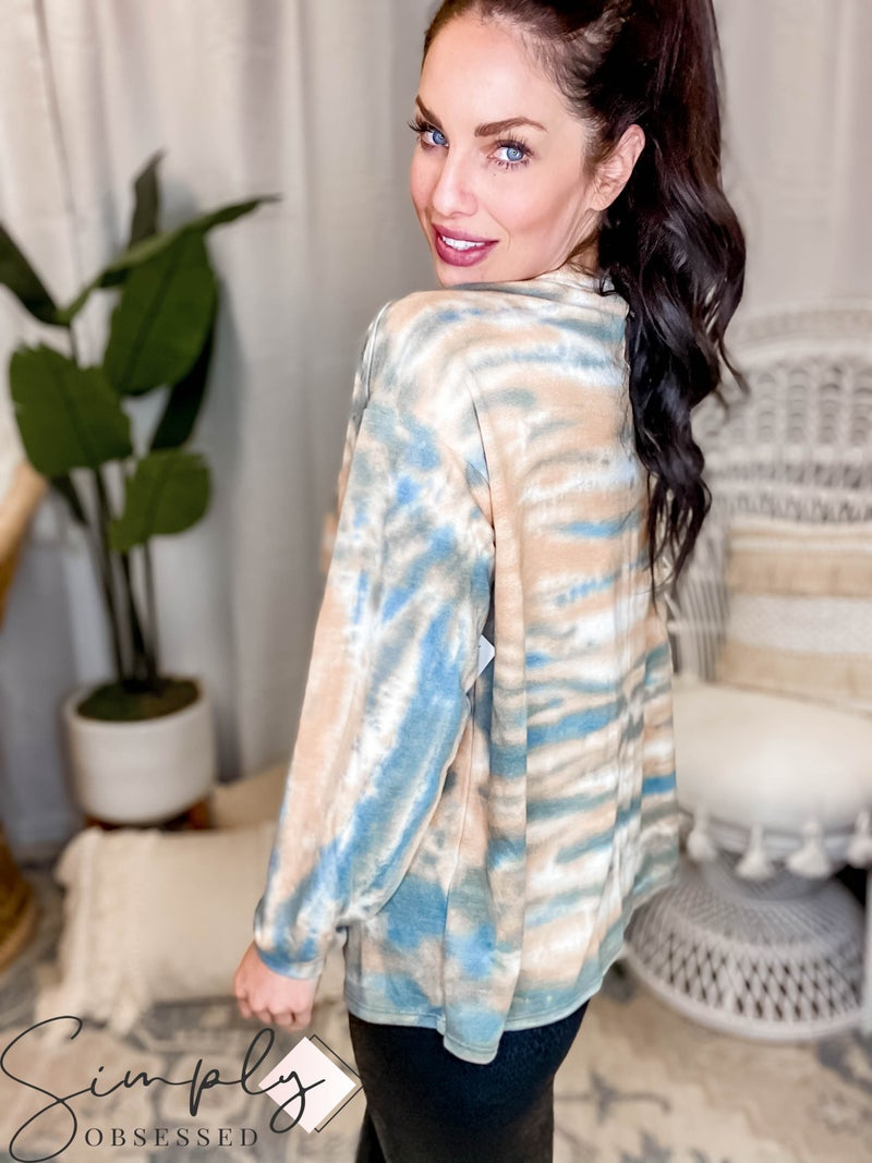 T-Party - Tie Dye Round Neck Long Sleeve Top