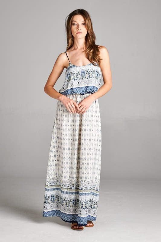 Vanilla Bay - Printed spaghetti strap dress