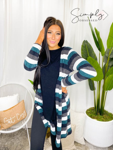 Sew In Love - Long Sleeve Striped Caridgan