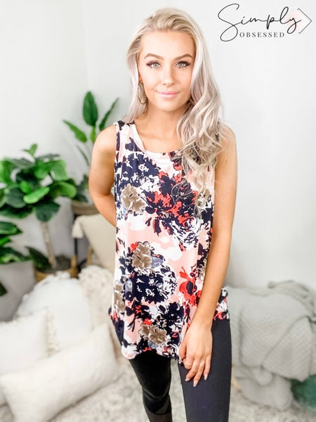 SEW IN LOVE-Messy Floral Tank