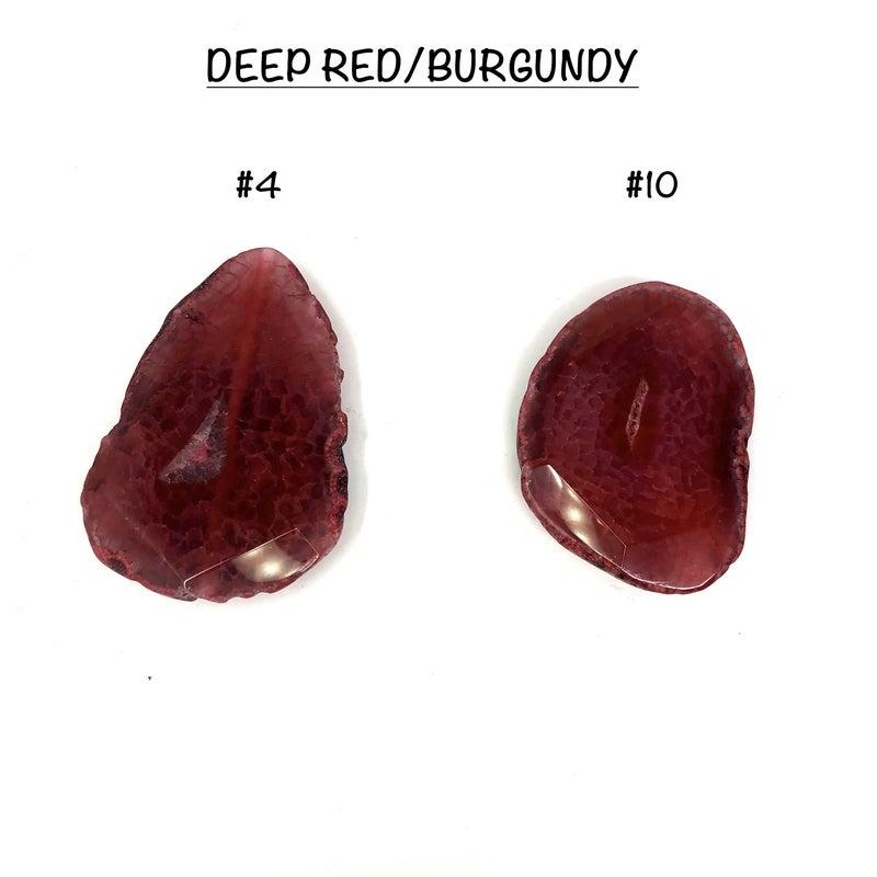 Agate Phone Stone - Deep Red / Burgundy