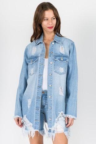 American Bazi - Distressed Shirt Style Jacket