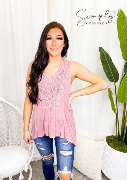 Cy Fashion - Crochet lace detail sleeveless top