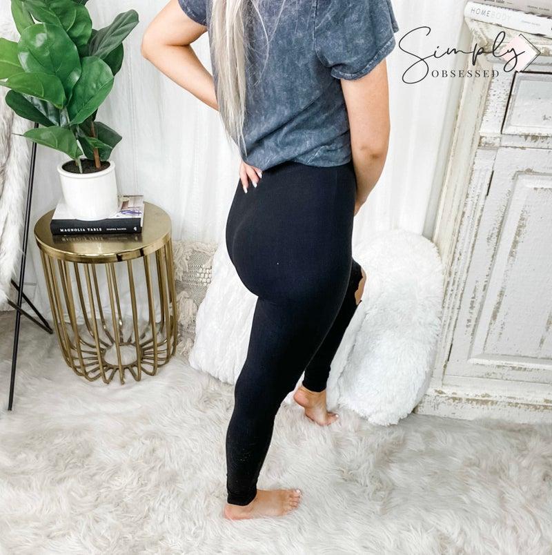 Hayden - lace cut-out brushed legging(plus)
