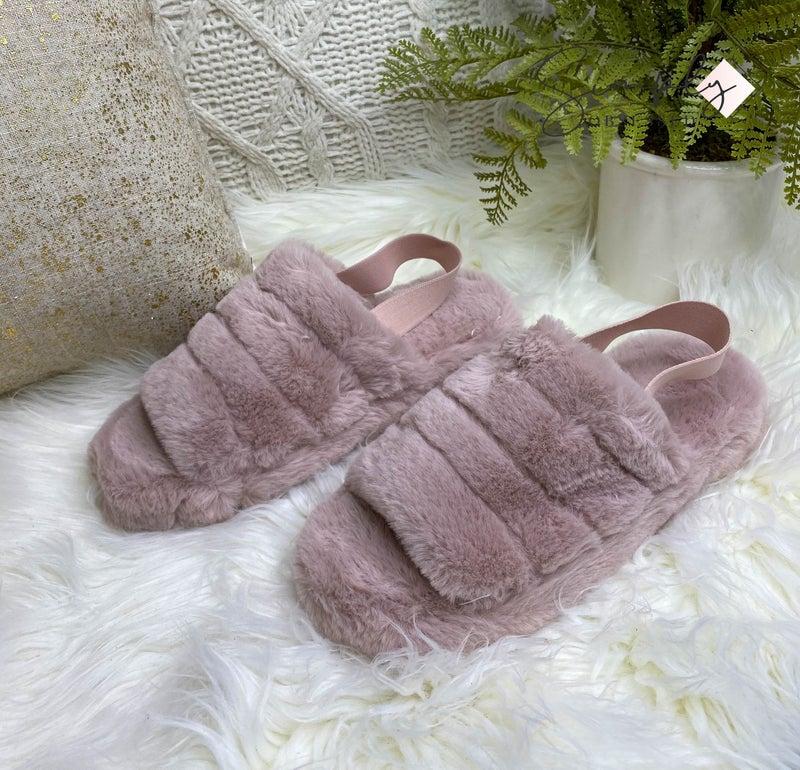 Shoe Shoe Train - Fuzzy low heel sandal