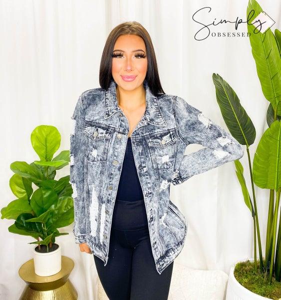 Fantastic Fawn - Distressed denim jacket w/ buttons