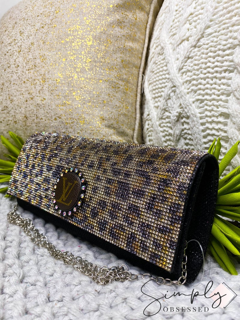 LV Up-Cycled Rectangle Crossbody Clutch