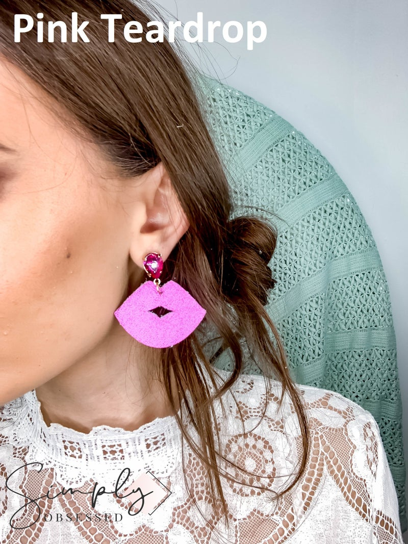 JAG/ged - Leather Lips Earrings