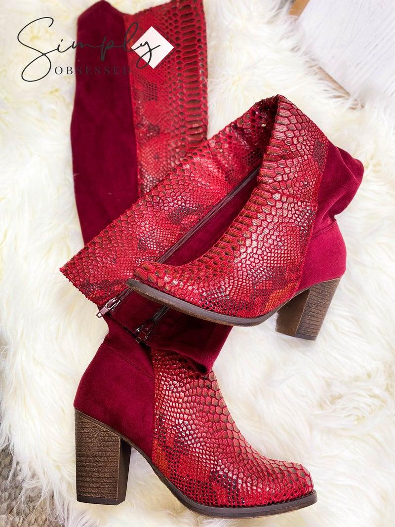 Pierre Dumas - Knee high zip up boots