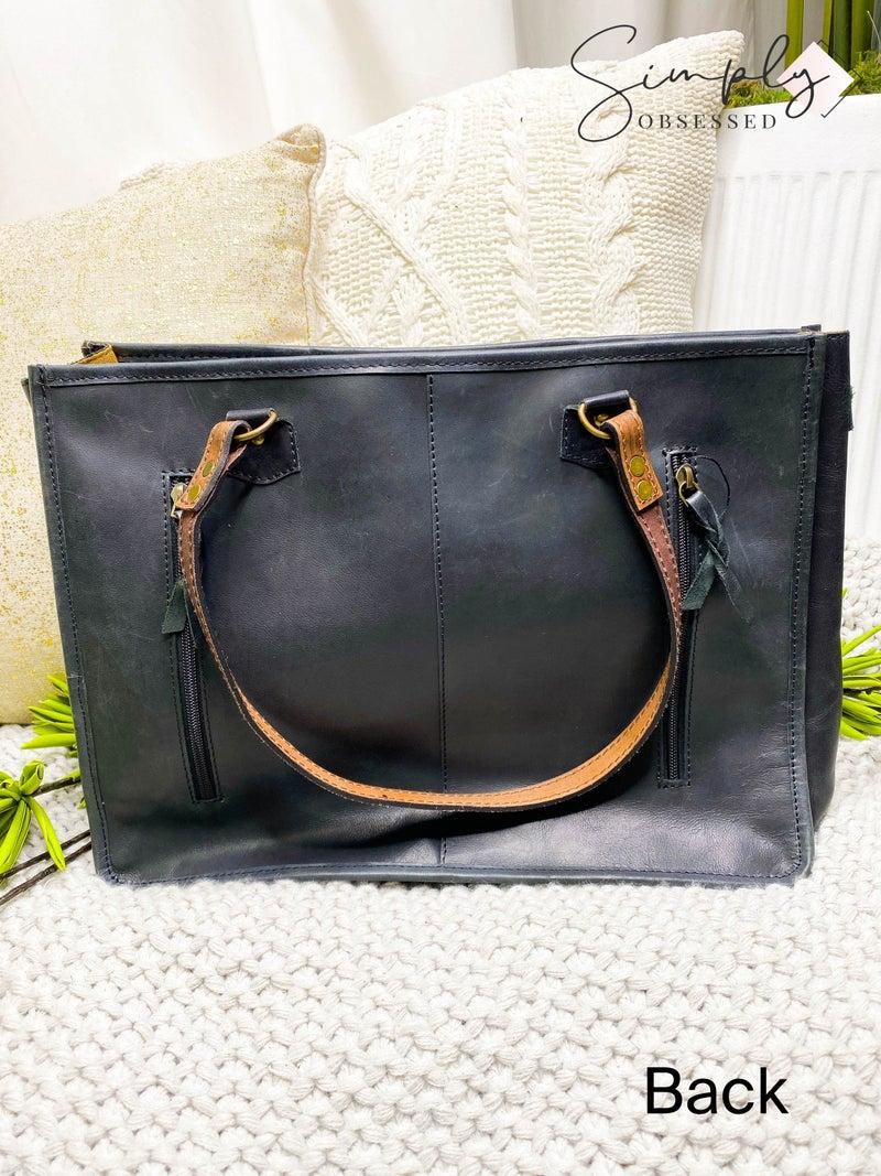 American Darling - Leather work tassel detail cross body bag