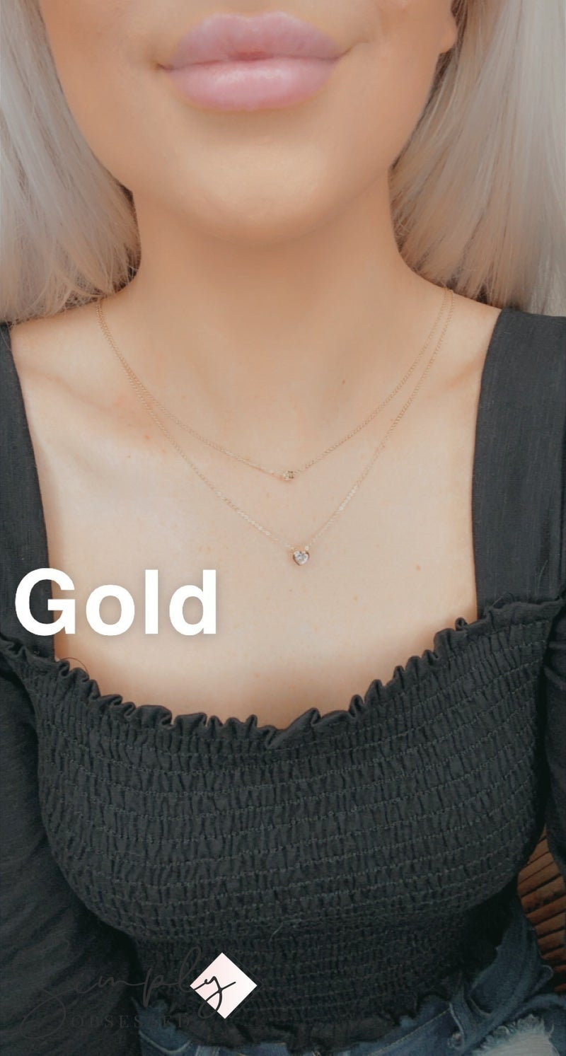 Dainty Double Layered Heart Necklace