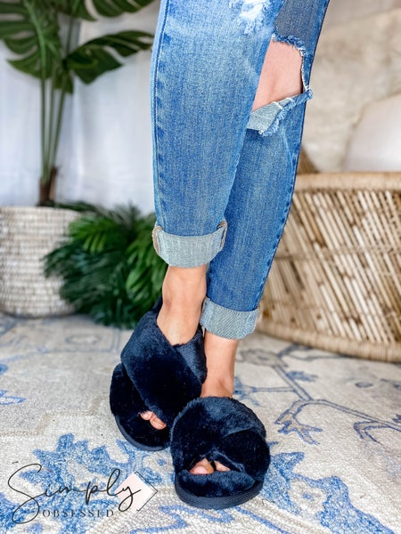 Ccocci - Open Toe Fuzzy Slippers