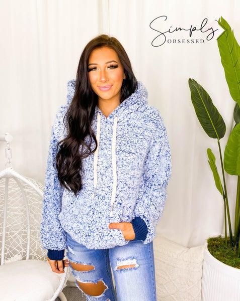POL- Unicorn fuzzy sherpa hoodie sweater with adjustable string