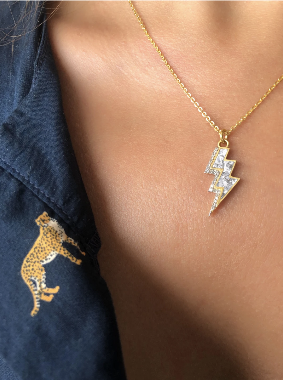 Gulati - Rishi Bolt Real Diamond Necklace