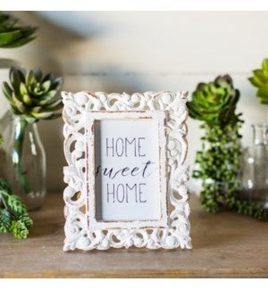 VIP ATL - Embellished Wood Distressed Paint Picture Frame 4X6