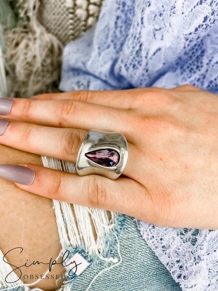 Vidda - Silver Anna Teardrop Ring