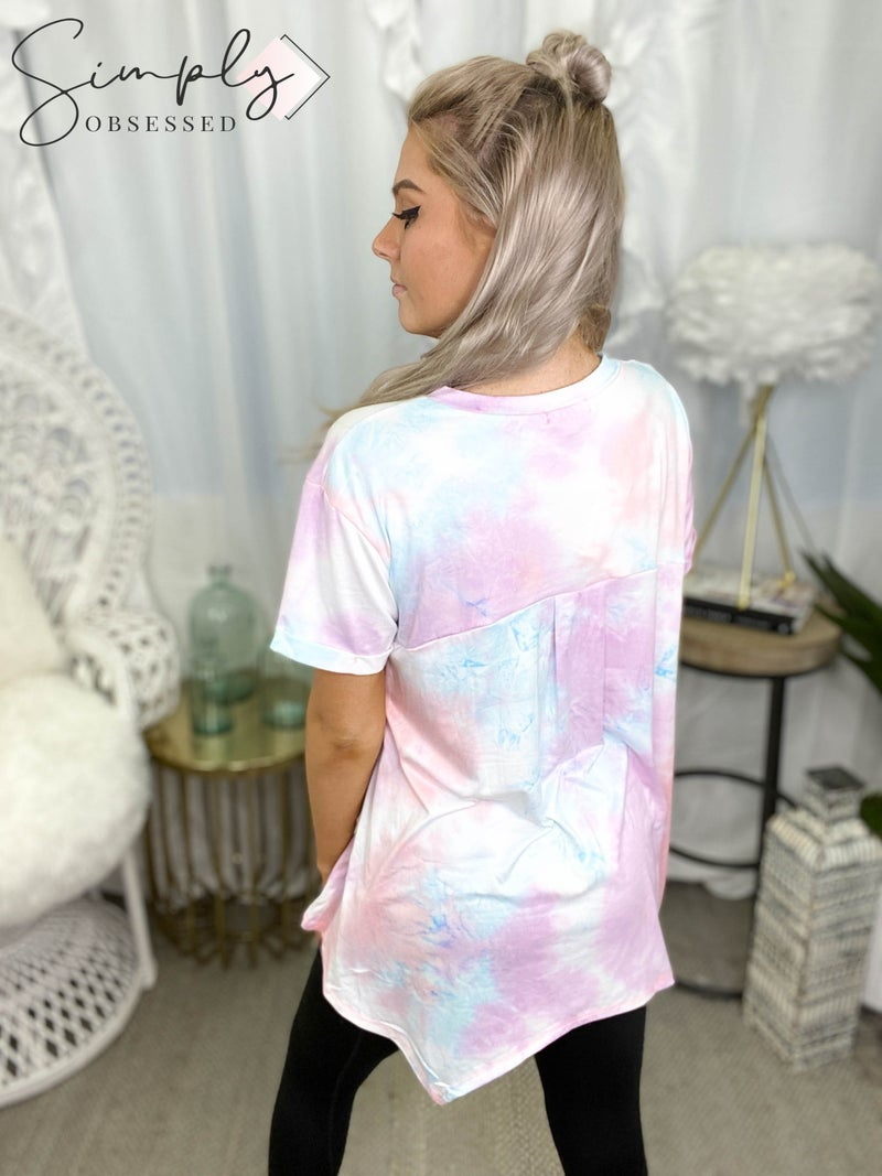 White Birch - Short Sleeve Tie Dye Top