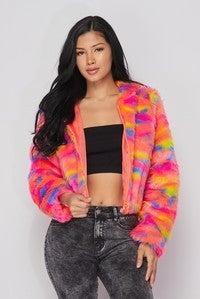 AAAAA Fashion - Camo Jacket Zip Up Soft Oversize Fur Hoodie