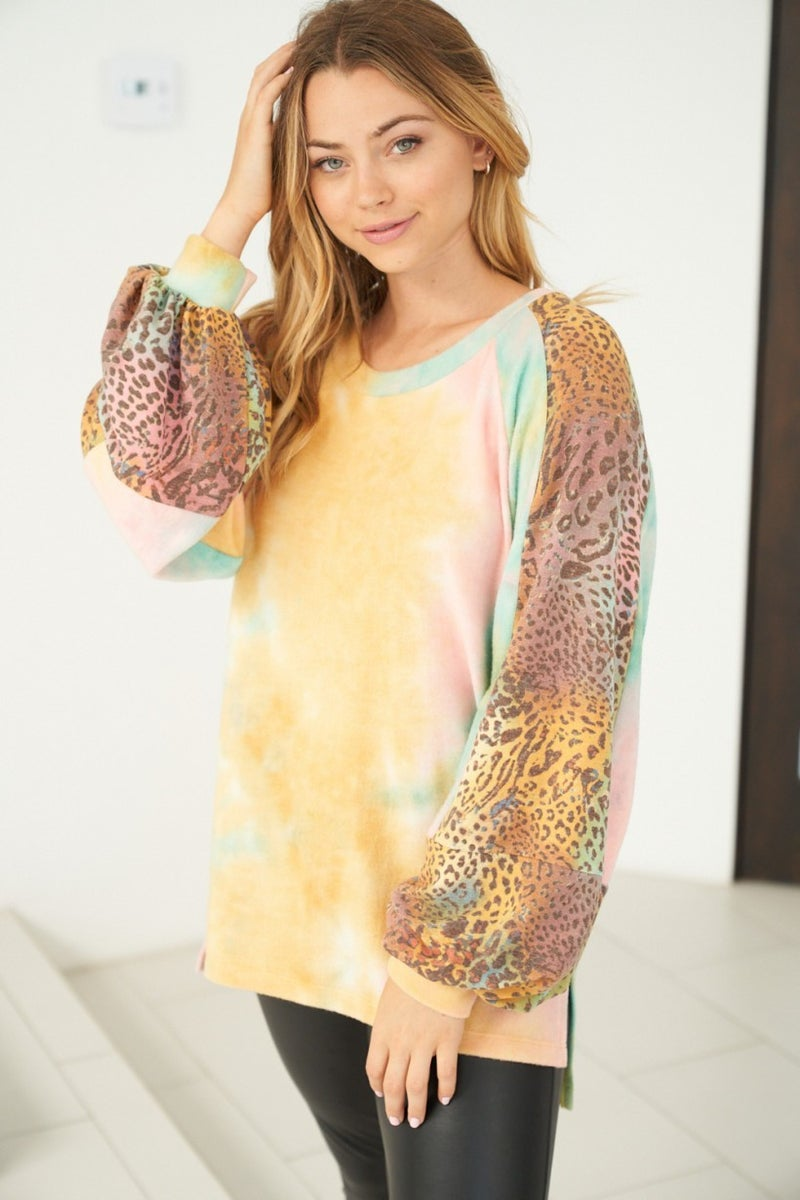 White Birch LA First Dibs - Long Bell Sleeve Top
