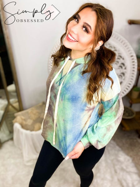 7th Ray - Tie dye hooded sweater