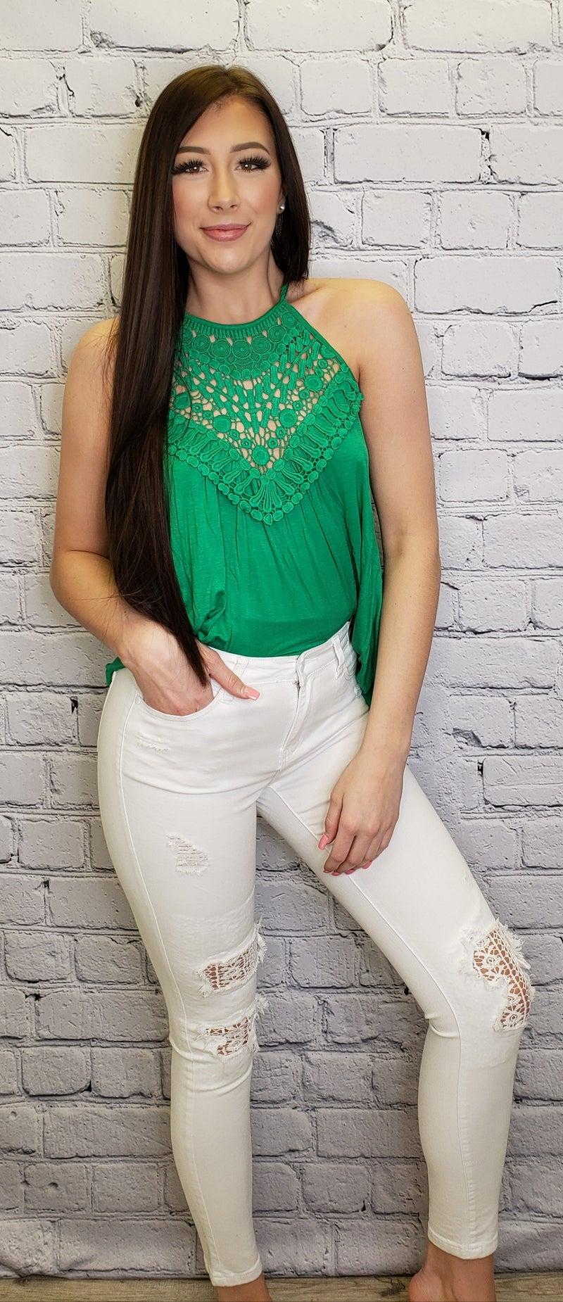 Judy Blue - Lace patch skinny jeans