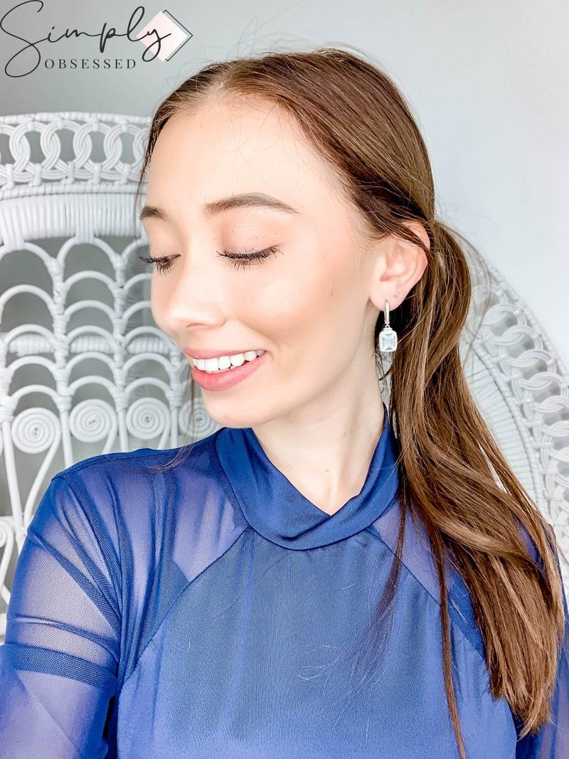 NYJ - Dangle Baguette Earrings