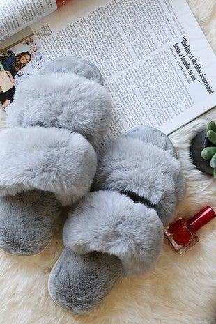 Wanna B - Soft faux fur slippers