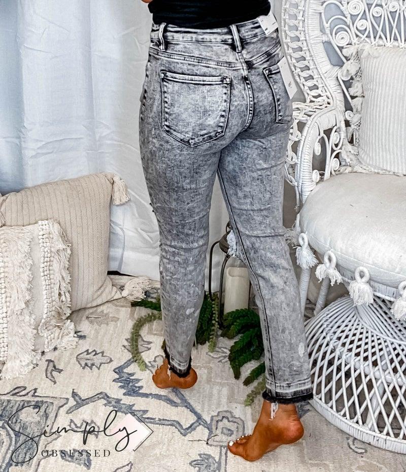 Vervet - Mid Rise Distressed Crop Skinny Jeans