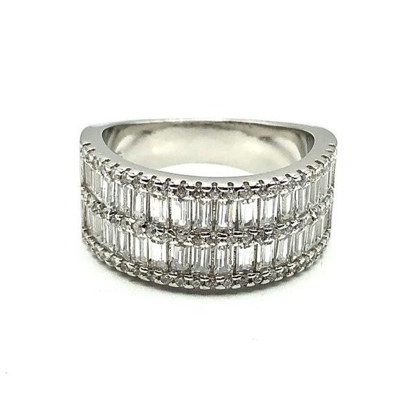 Baguette CZ Framed Ring
