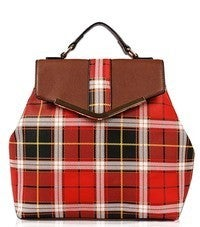 AGP FASHION-Checker Design Structure Flap Over Backpack