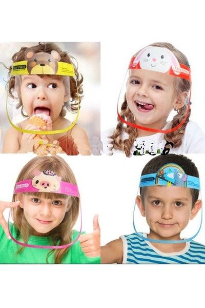 Kids fun and cute cartoon face shield