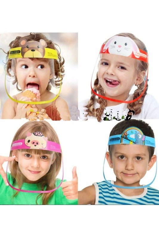 Kids fun and cute cartoon face shield
