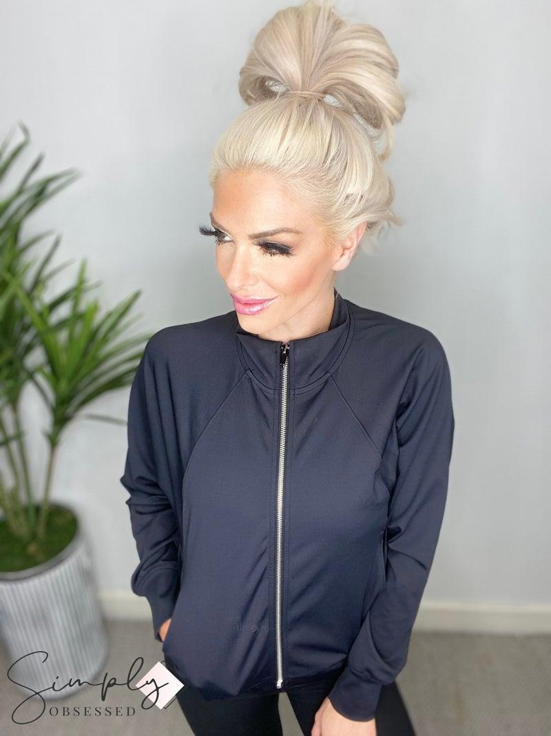 Mono B - Side paneled zip up jacket