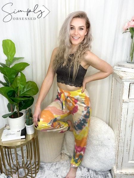 Bibi Clothing - Tie dye lounge wear pants