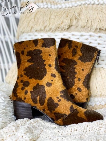 Pierre Dumas - Animal print zip up boots