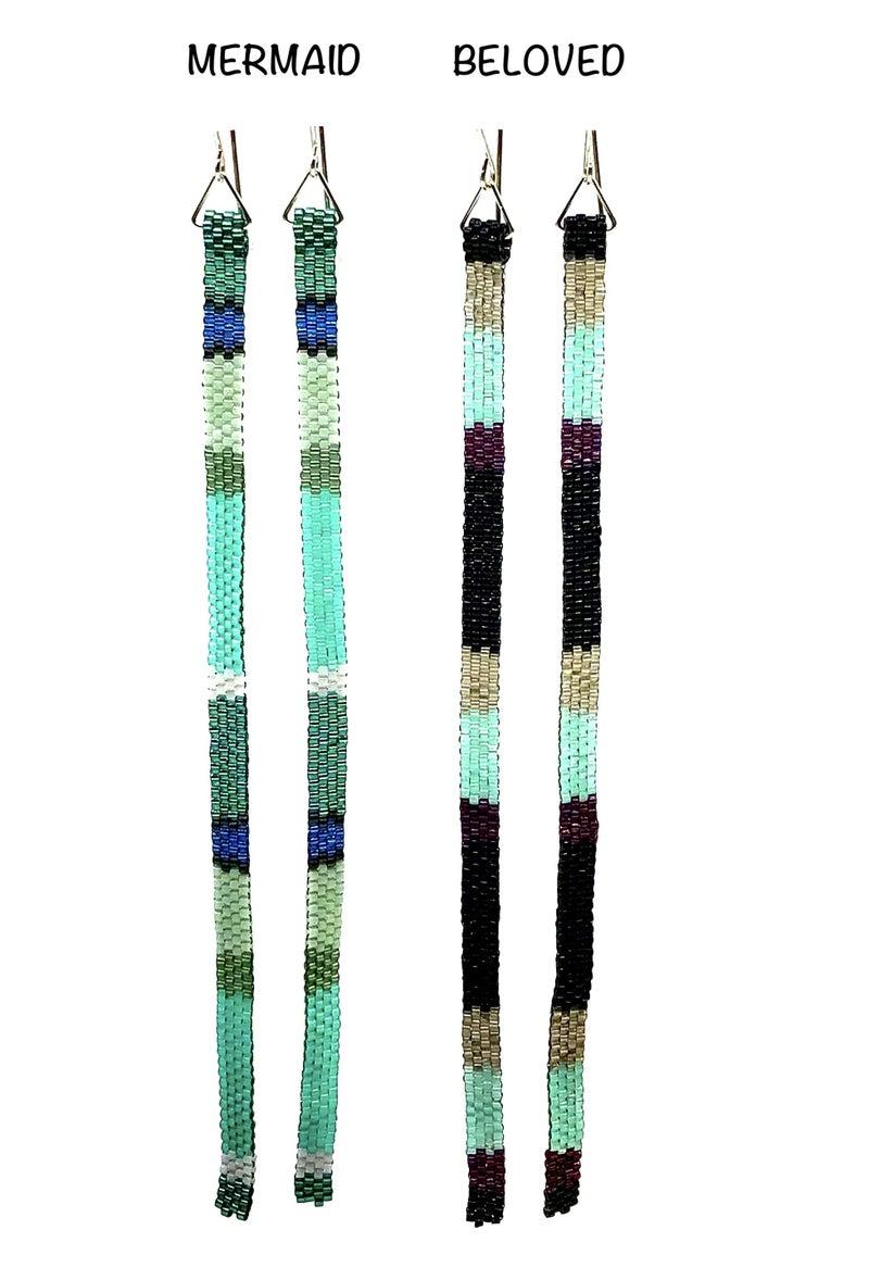 FAIRE - Long Peyote Stitch Beaded Earrings
