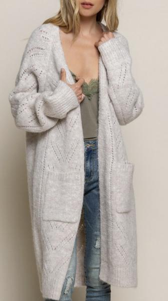 Pol - Front pocket detail knit cardigan
