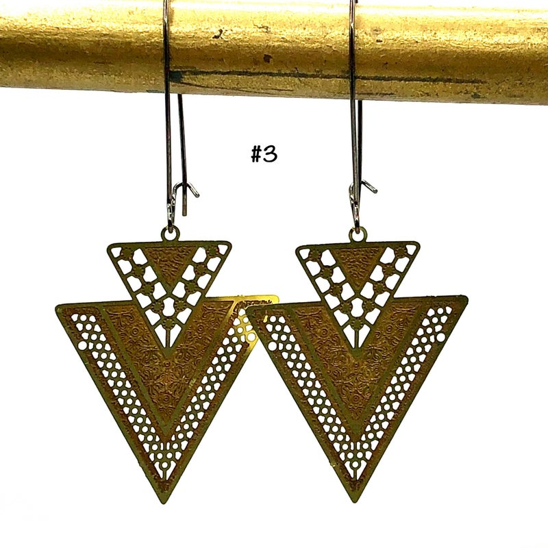 Intricate Brass Earrings
