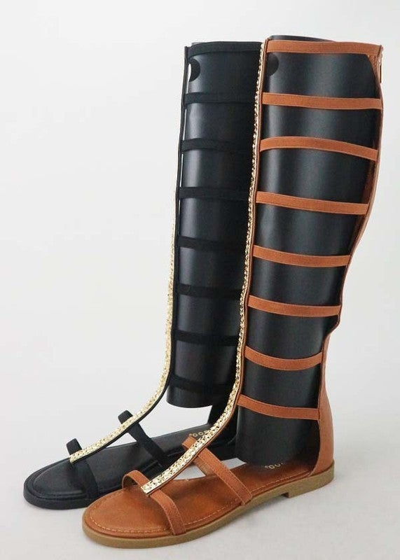 BAMBOO-GLADIATOR  STYLE SHOES WITH DETAIL ON FRONT