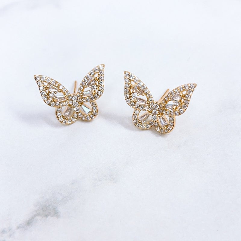 Treasure Jewels - Crystal Butterfly Studs