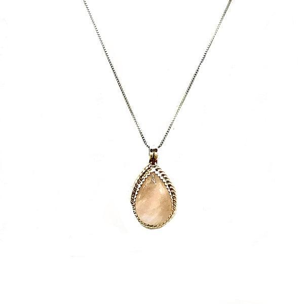 M&S - Rose Quartz Necklace