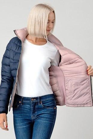FASHIONING-Practical double sided padded jacket